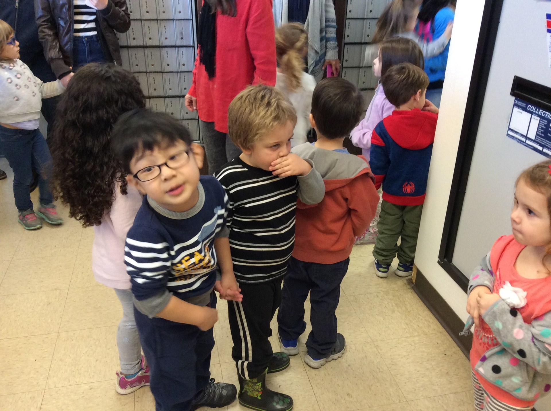 children at the post office