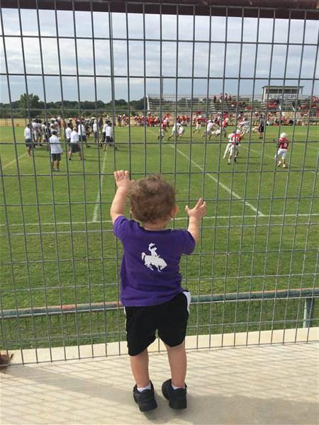 Bode at football game