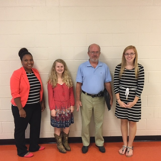 Madison & Lakyn with Ms. Parks (SECU) and Mr. Wade (NC Works)