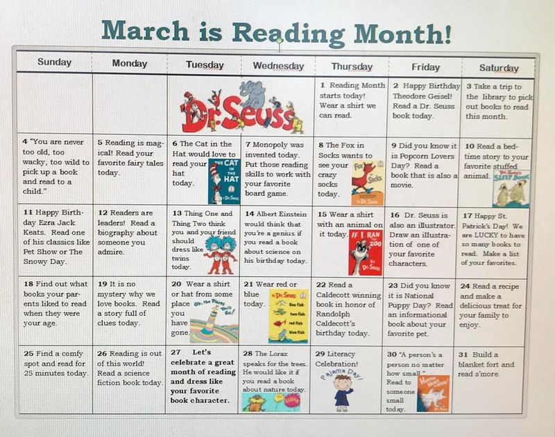 March is Reading Month