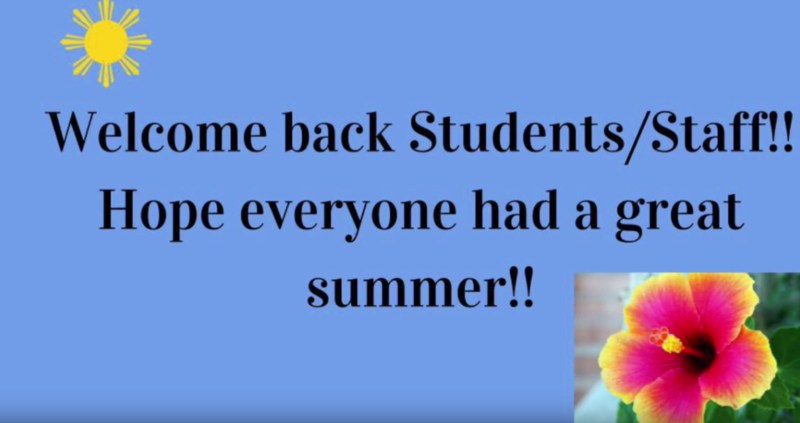 Welcome Back Students and Staff Thumbnail Image