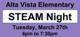 Alta Vista STEAM night