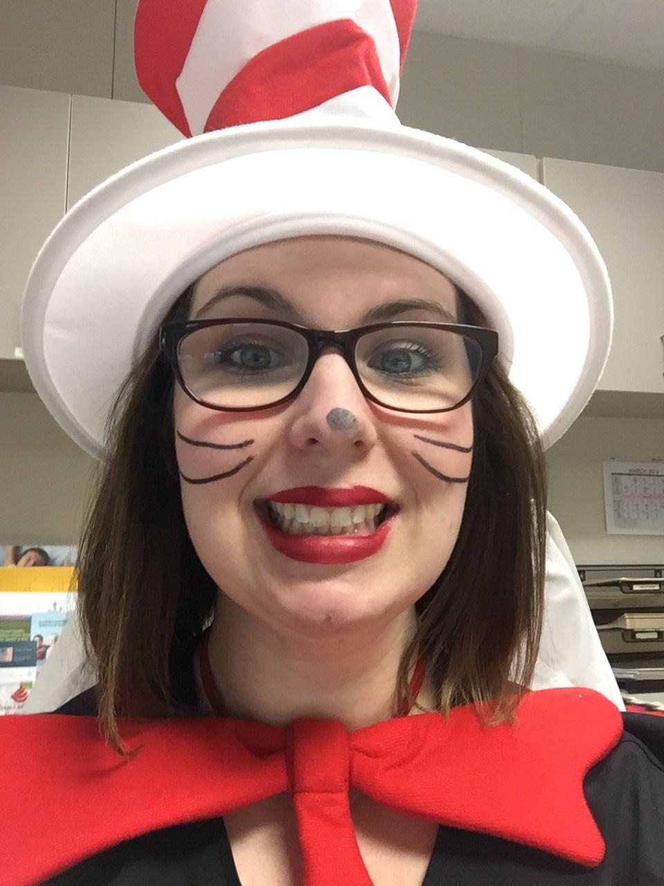 Nurse Dana celebrating Dr. Seuss Day!