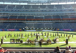 The Marching Black and Gold on the field at MetLife Stadium. Photo courtesy of Brad Evans.