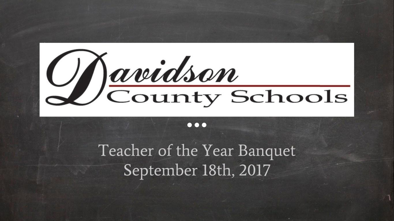 DCS Teacher of the Year Banquet Slide Show