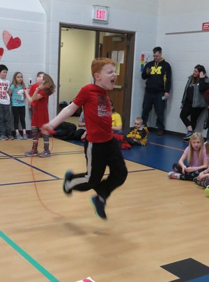 Lee students enjoy the annual Jump Rope for Heart event.