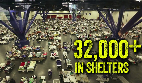 32K people in shelters in TX
