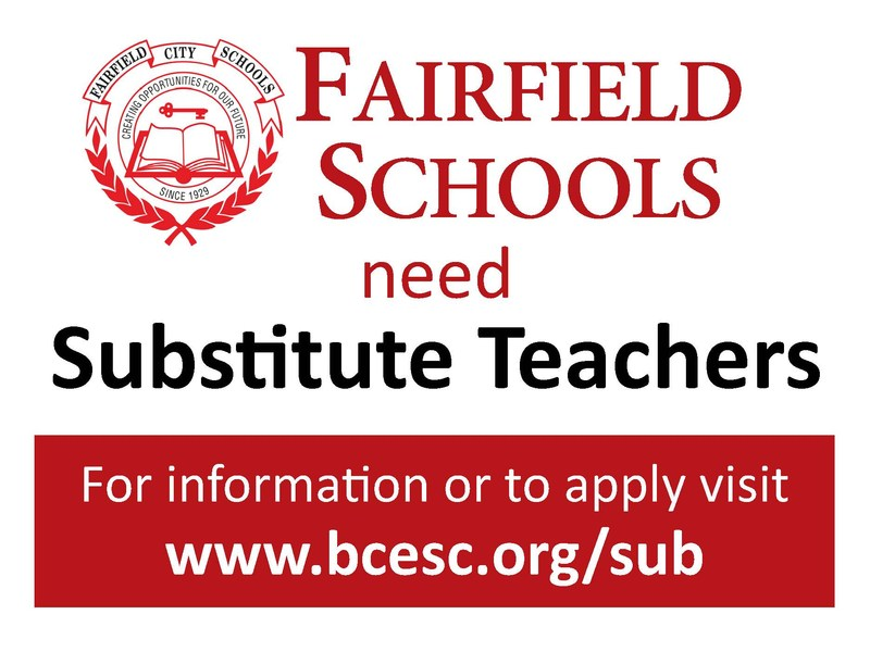 Substitute Teachers Needed Sign