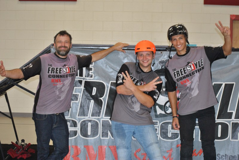 The Freestyle Connecton BMX Riders Perform Bike Stunts for Spring Fundraiser Participants Featured Photo