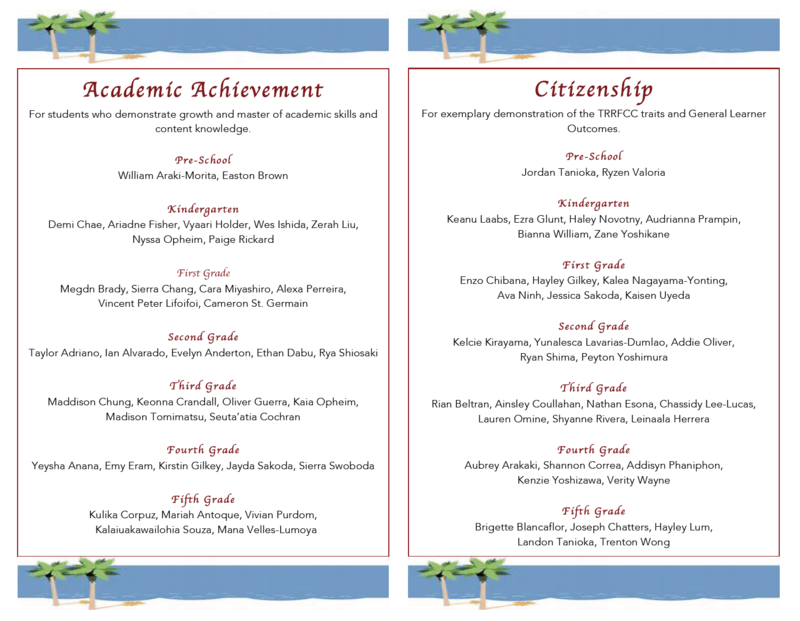 4th Quarter Academic Progress and Citizenship Awardees Thumbnail Image
