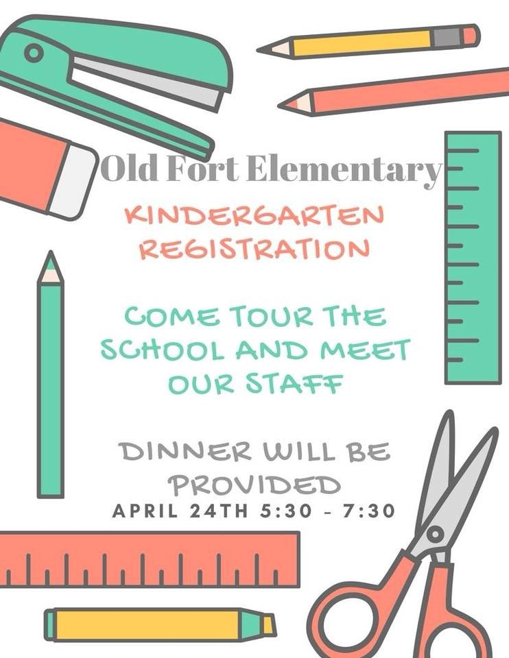 Kindergarten Registration at OFE is Tuesday, April 24th 5:30 - 7:30. Dinner will be provided.