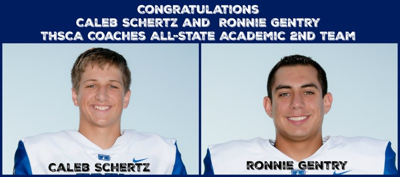 Schertz and Gentry Recognized for Academics Thumbnail Image