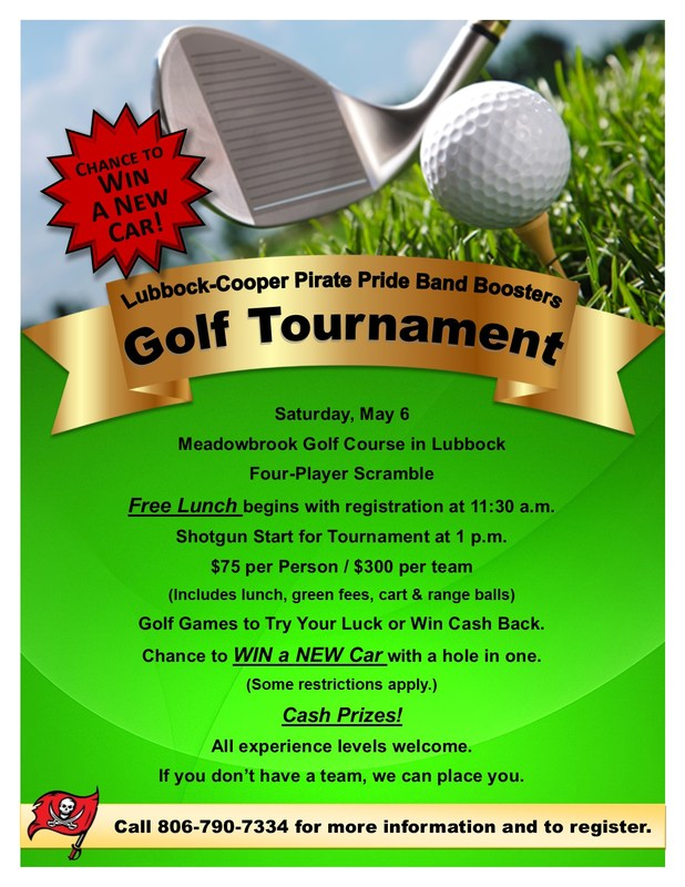 Pirate Pride Band Boosters Host Four-Man Scramble Saturday, May 6 Thumbnail Image
