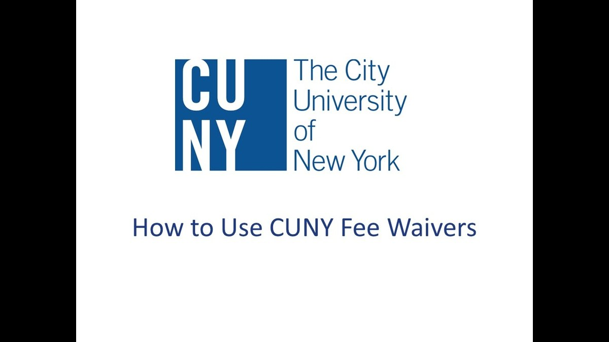 CUNY Fee Waivers
