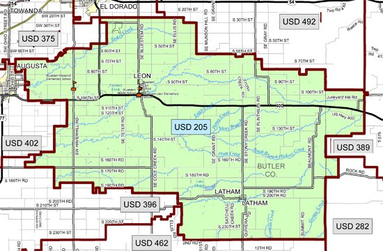 USD205 District Boundary Map