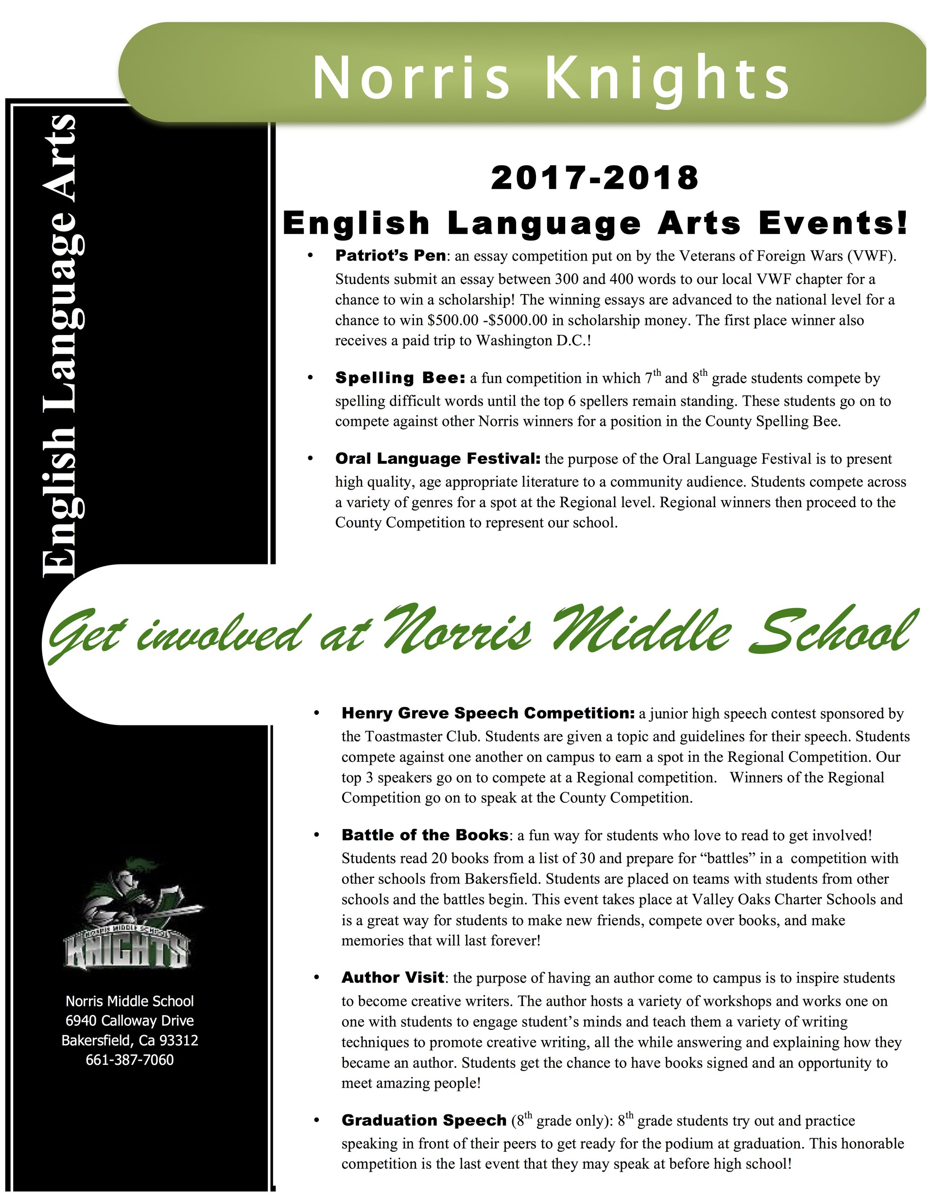 ELA events brochure