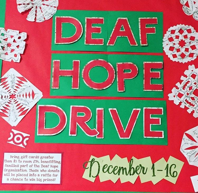 First Deaf Hope Drive sponsored by SIA and ASL