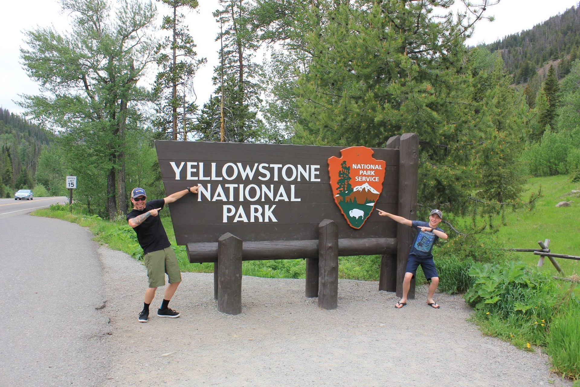Me and my son, Jacob, at Yellowstone National Park