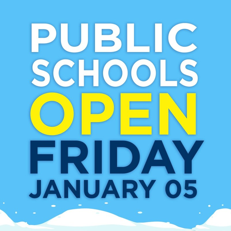 School's Open Friday 1/5/17 Featured Photo
