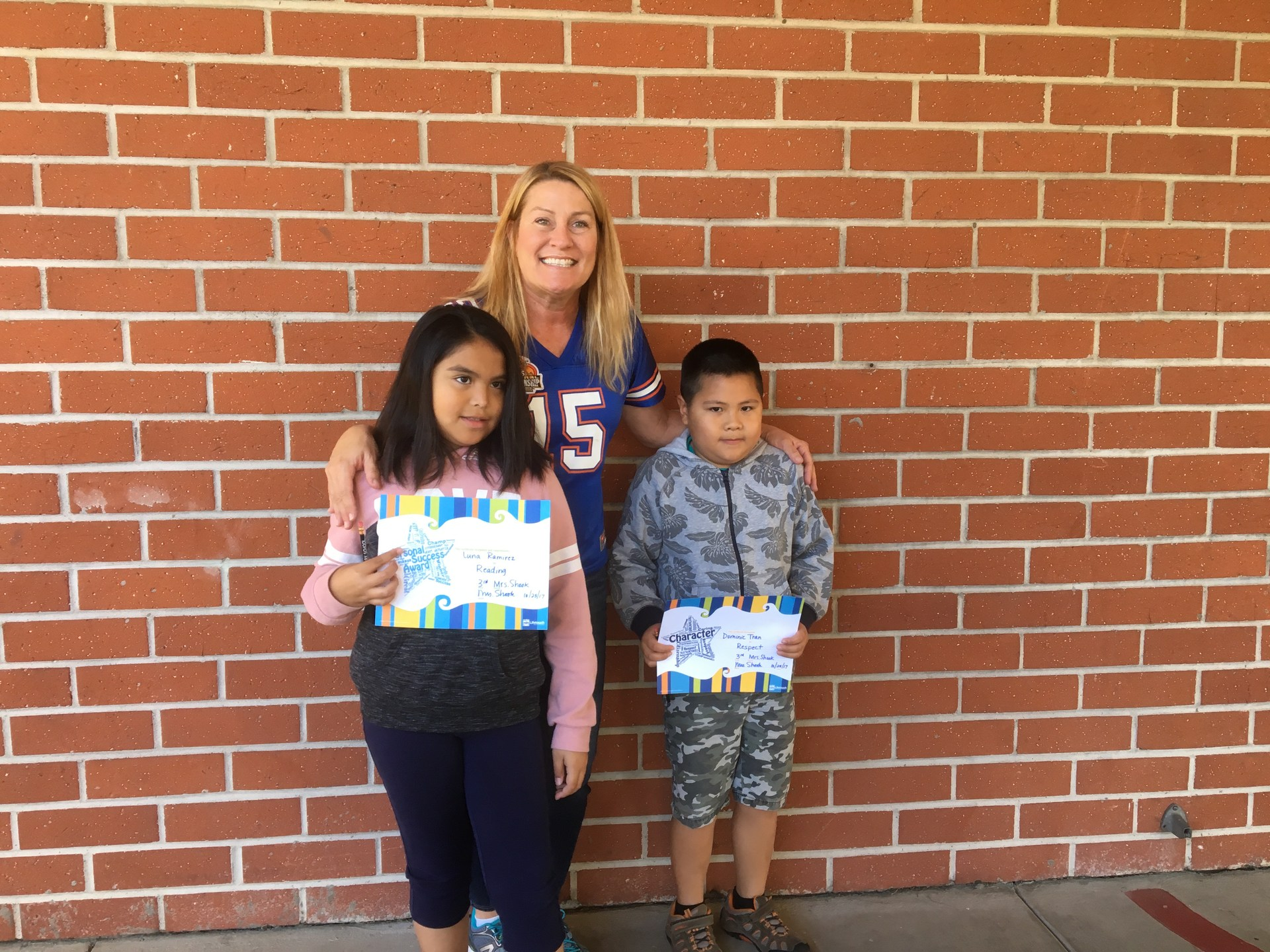 Mrs. Shook's October Honorees