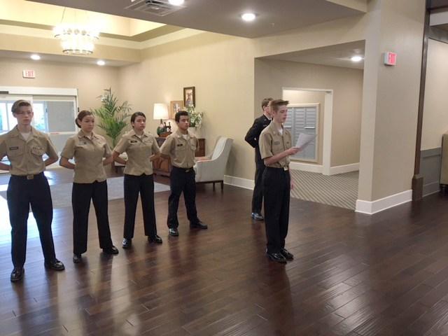 NJROTC Cadets Performed Flag Folding Ceremony Thumbnail Image