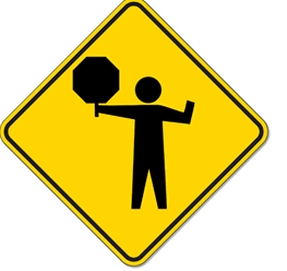 Crossing Guard Sign Logo.