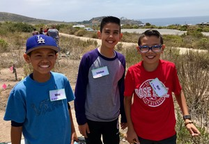 5th Grade Students science at the beach