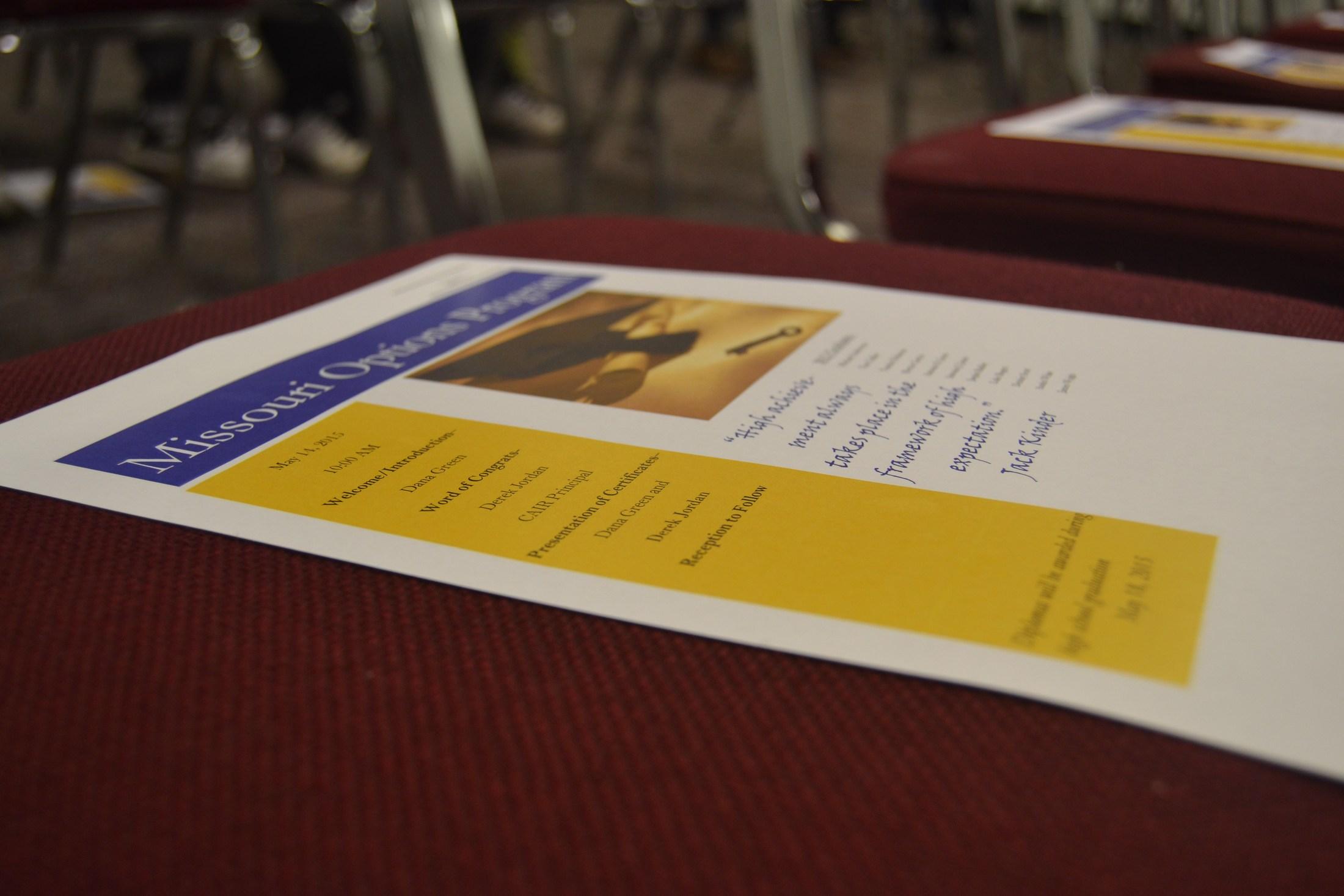 Graduation Celebration handout