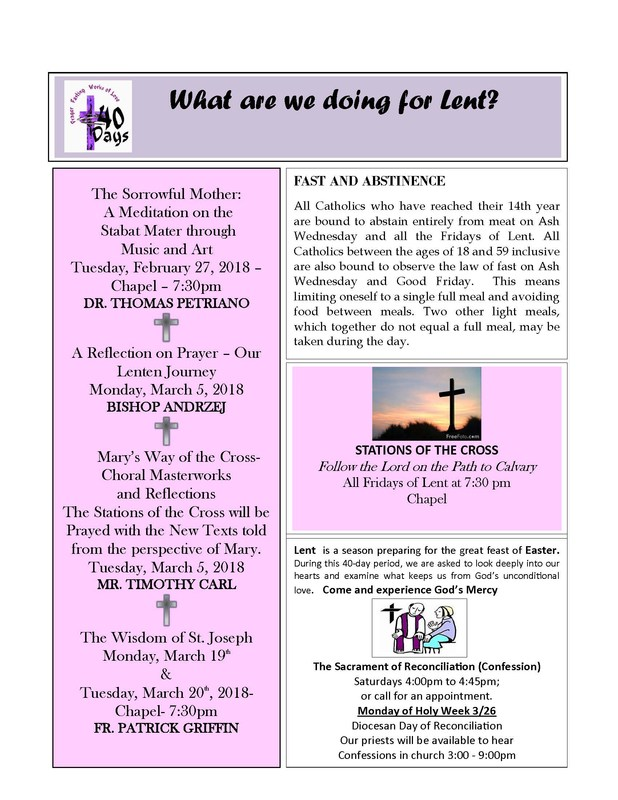 What Are We Doing For Lent? Featured Photo