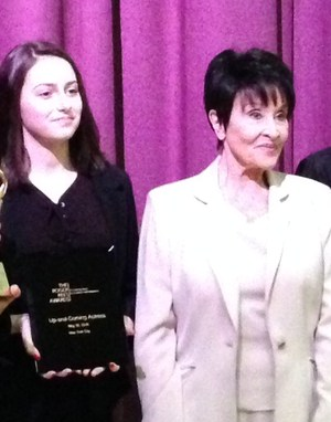 Two time Tony Award winner and theater legend Chita Rivera presented the awards to this years winners.