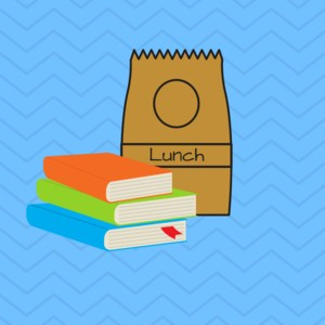 lunch bag with books
