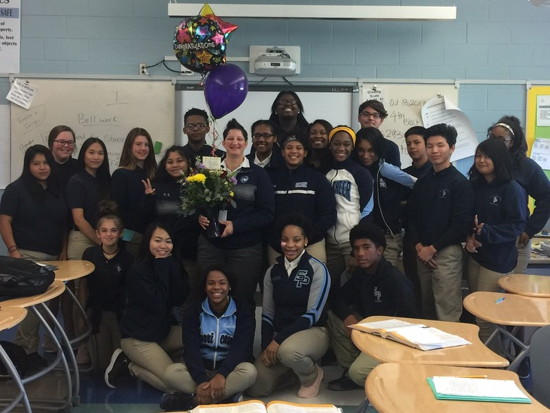 Congratulations to SPHS Teacher of the Year, Laura Roy! Thumbnail Image