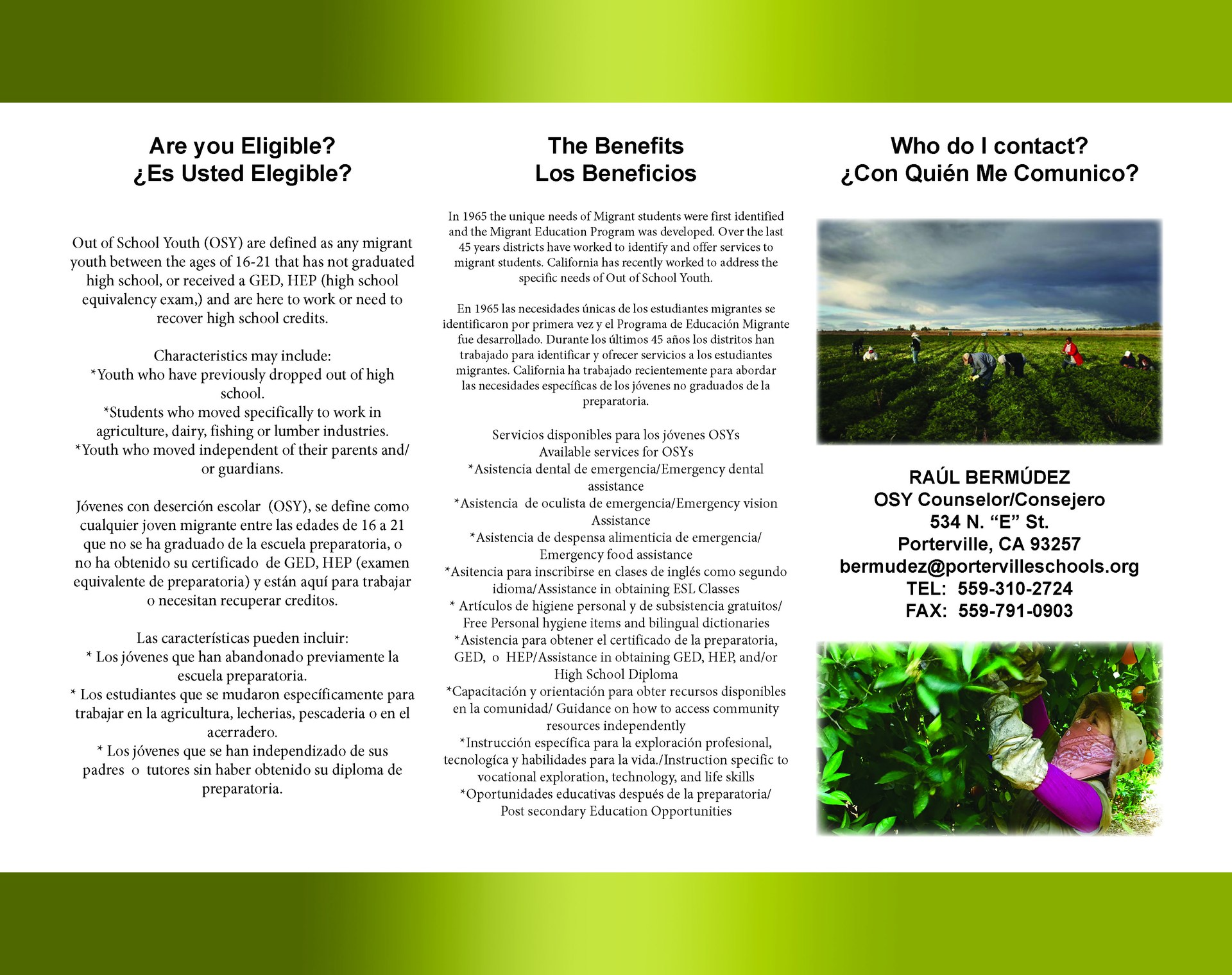 Migrant Education Flyer Page 2