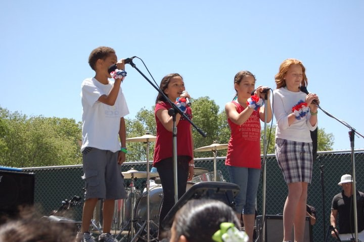 students performing at Spring Faire