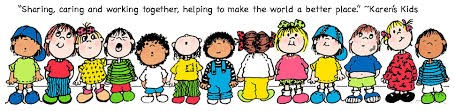 Kindergarten students working together