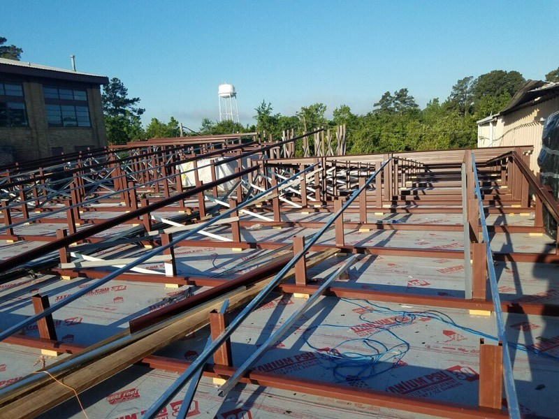 Framing for Maintenance Roof
