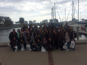 SJHS AVID & IB Students visit the National College Fair in San Diego