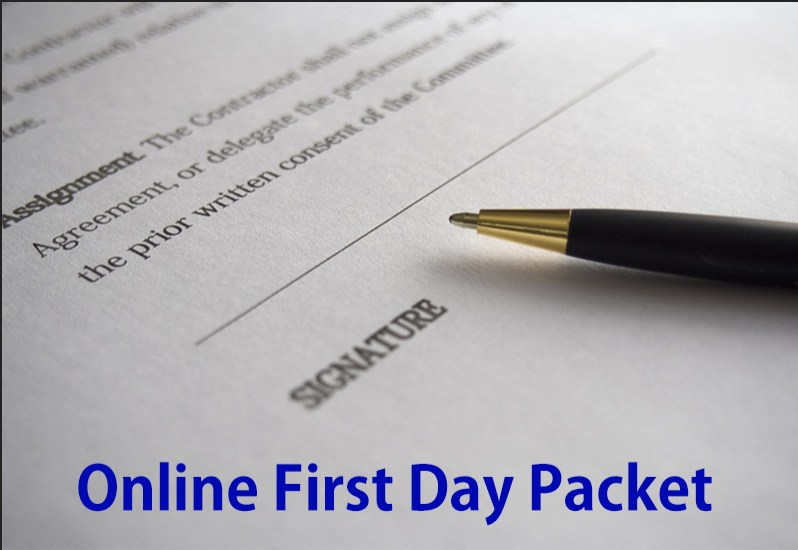 Online First Day Packets