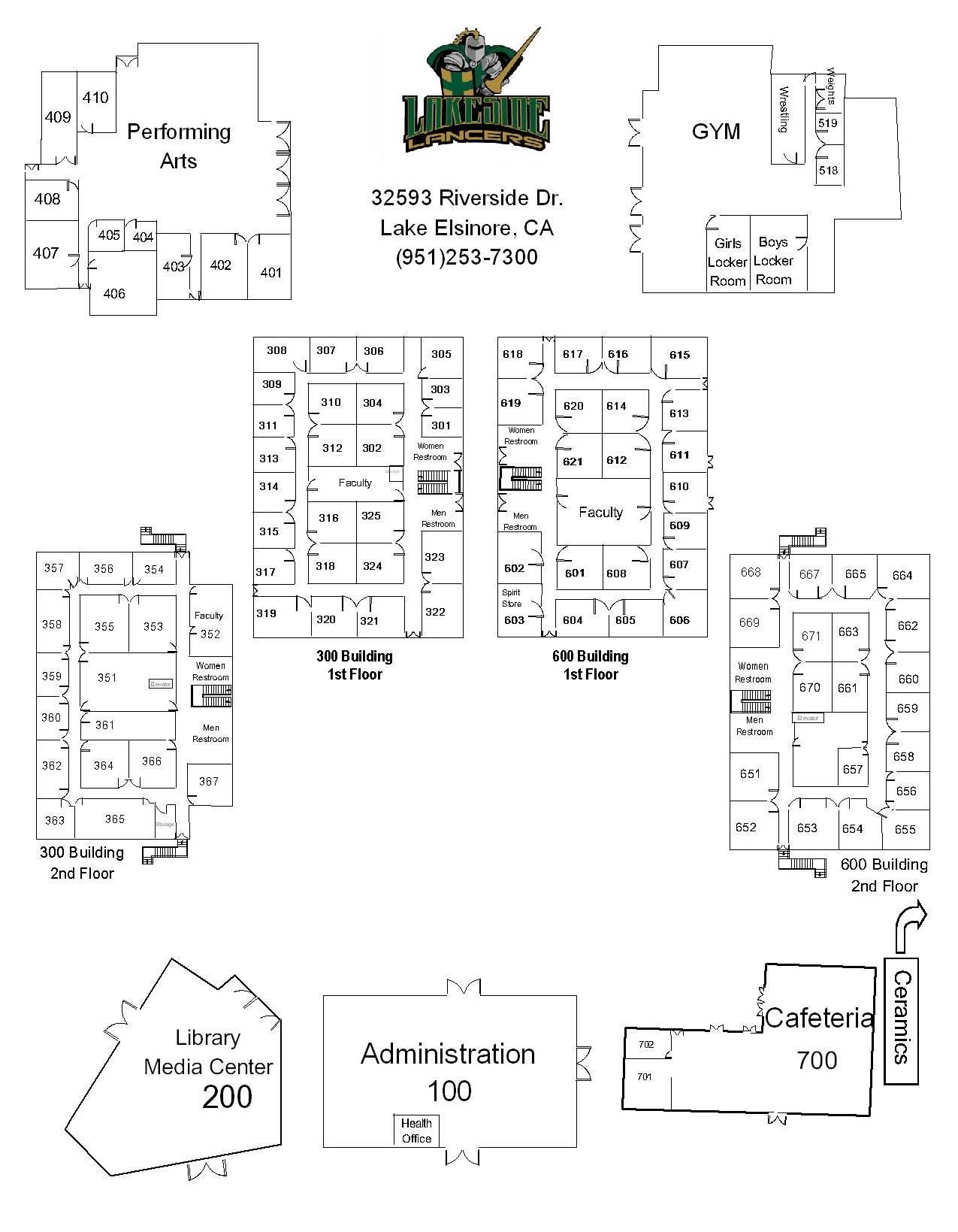 Lakeside Campus Map