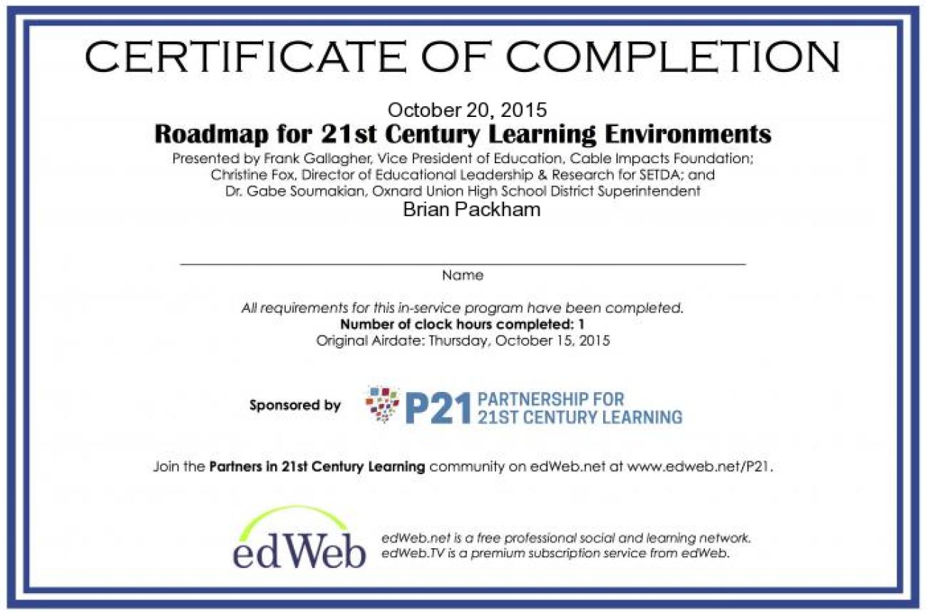 P21 Certificate