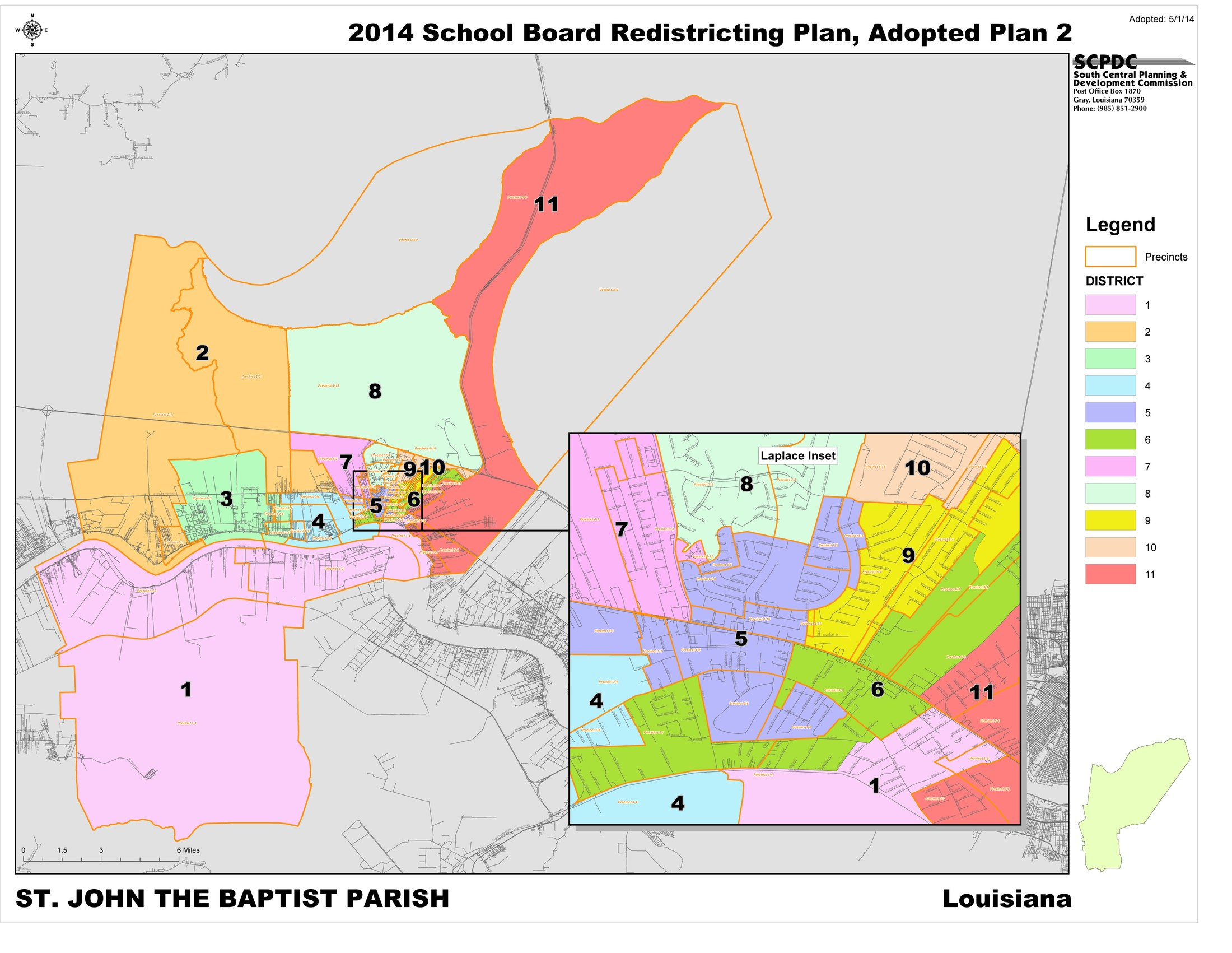 Board Member District Map