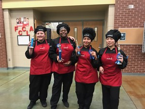 Culinary students pose for a pictures