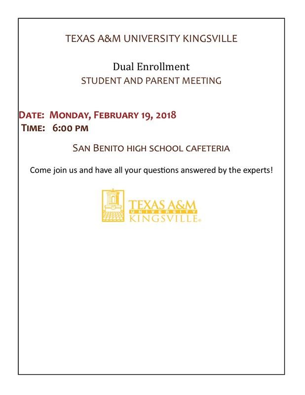 dual enrollment night on monday february 19