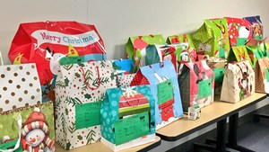 Gifts for young students in Bakersfield City School District.