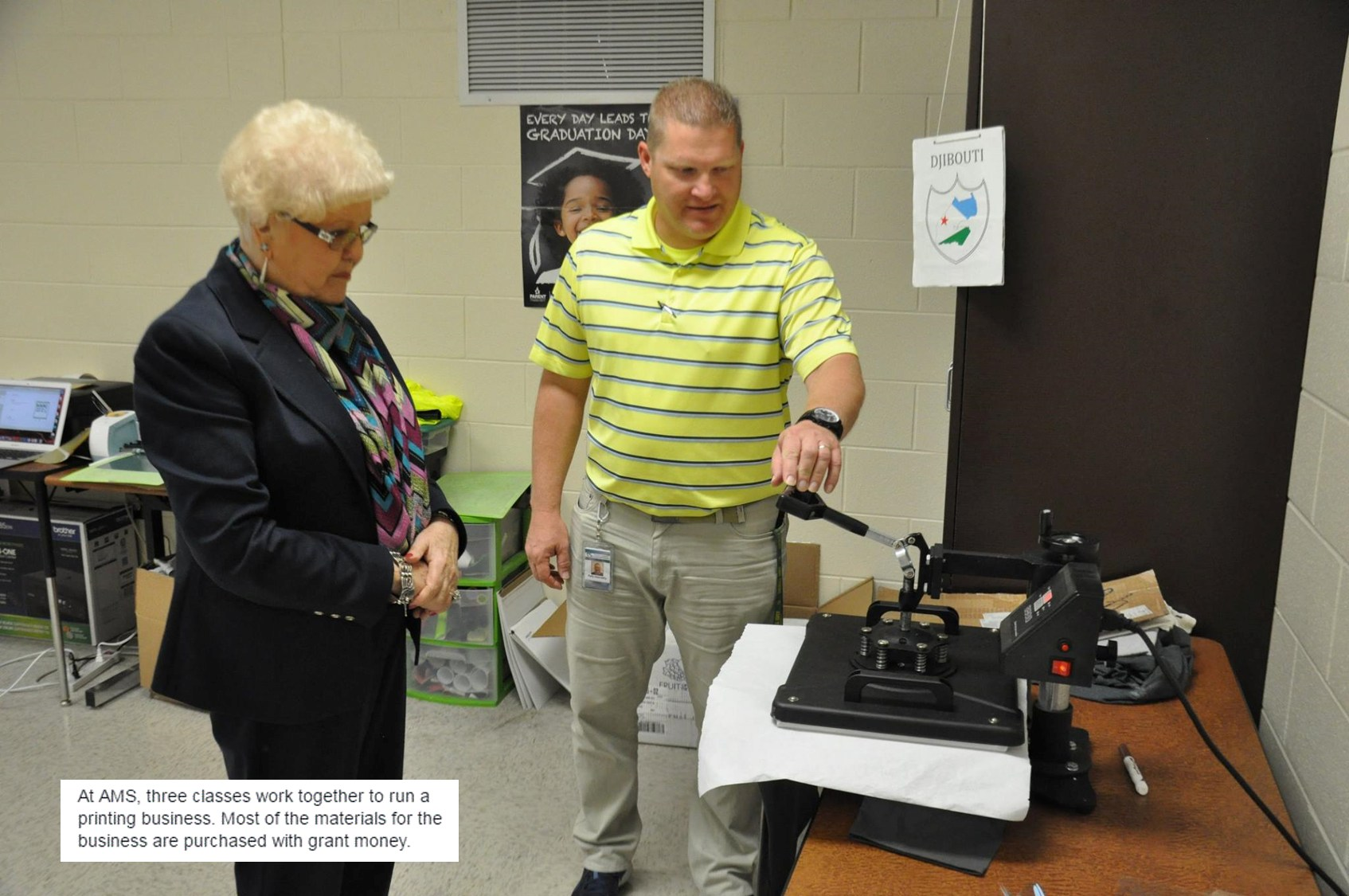 AMS purchases items for working print shop