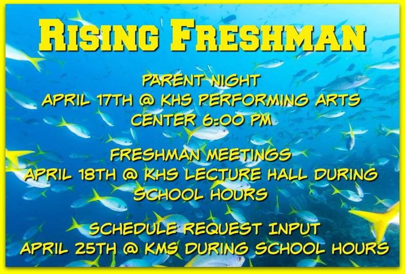 Rising Freshman Scheduling Information Thumbnail Image