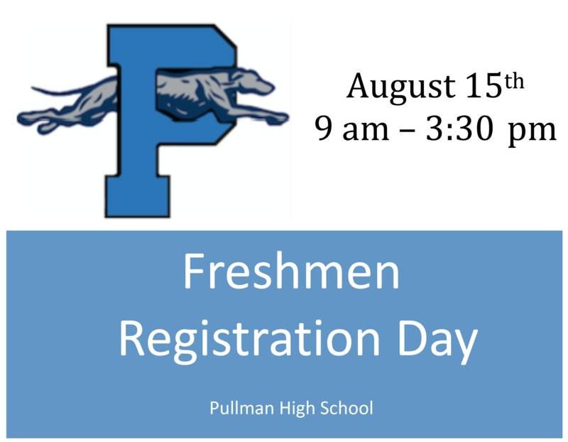 Registration Days Info:  Freshmen - Aug. 15 Thumbnail Image