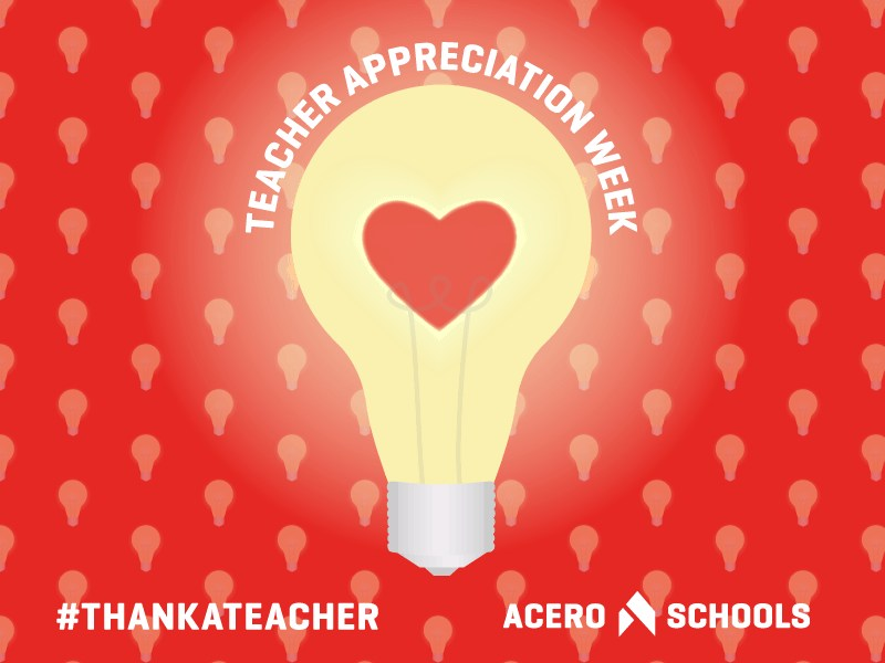 Lightbulb graphic to signify teacher appreciation week