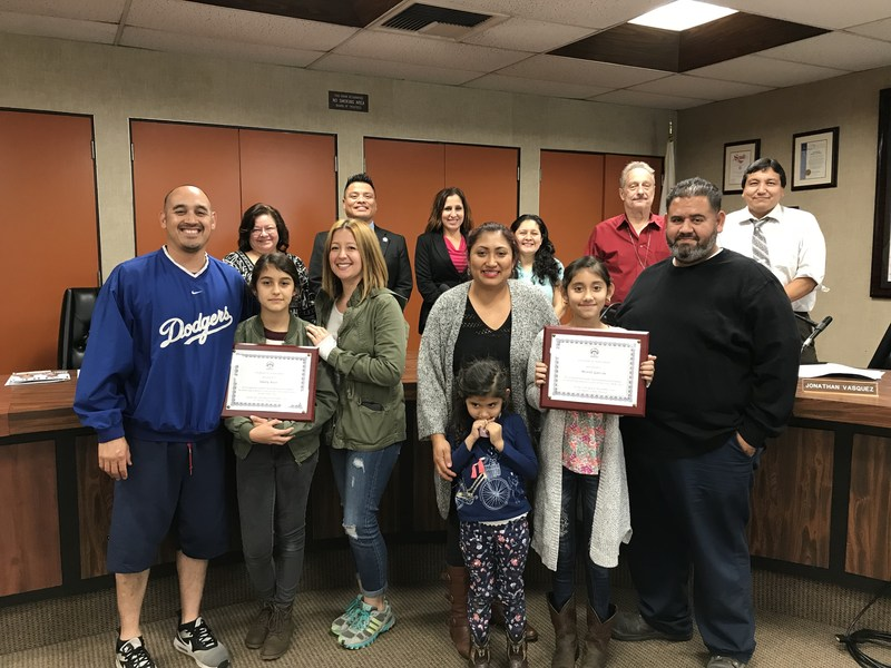 Los Nietos School District Board of Trustees Recognize Student Perfection on November 15, 2017 Featured Photo