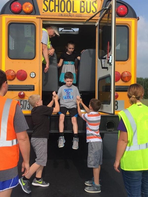 Picture of bus evacuation